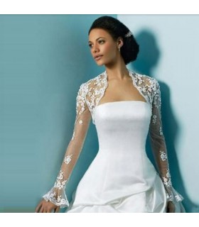 Bolero with lace for wedding dress