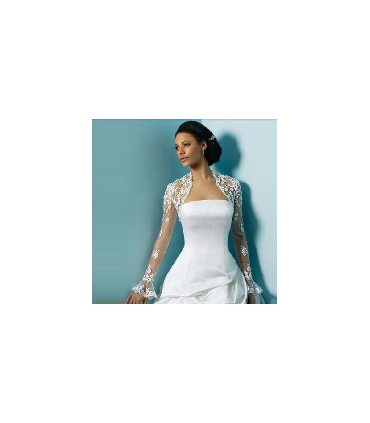 3fc03885858 Boléro avec dentelle pour robe de mariée