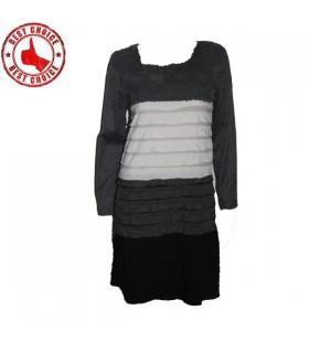 Crochet robe de couche manches longues