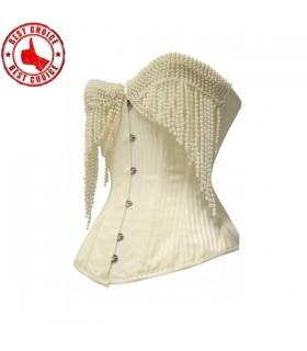 Nacré corset sexy perlée