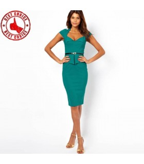 Sexy bodycon knee lenght dress
