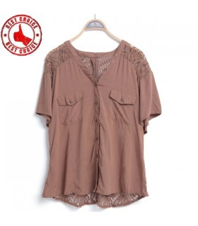 Chemise en mousseline de soie blouse