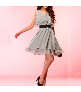 Light grey chiffon dress