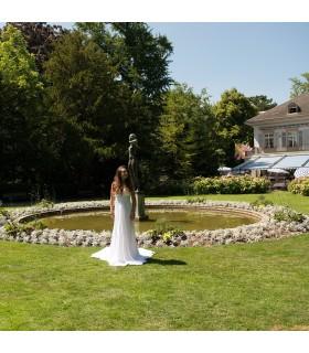 Weinlese Spitze romantische Hochzeitskleid