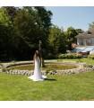Vintage robe de mariée romantique de dentelle