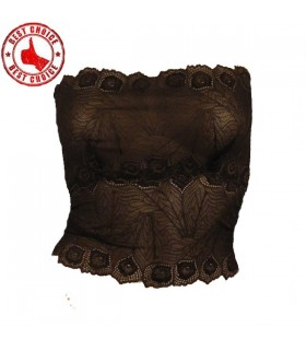 Brown special lace bandeau top