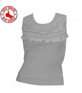White embellished collar cotton top