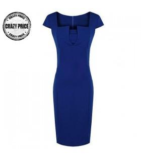 Blaue Arbeit modisches Kleid