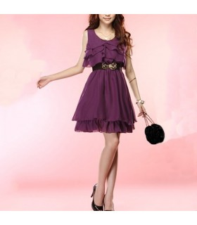 Robe en mousseline pourpre