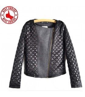 Autumn fashion quilted jacket
