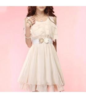 Weisses Chiffon Kleid