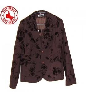 Brown fiori di velluto giacca