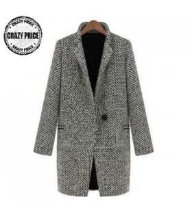 Manteau occasionnel Gris