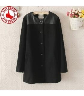 Manteau mince et long en laine