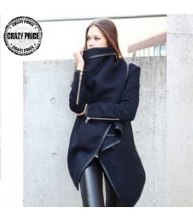 Slim zipper fancy coat