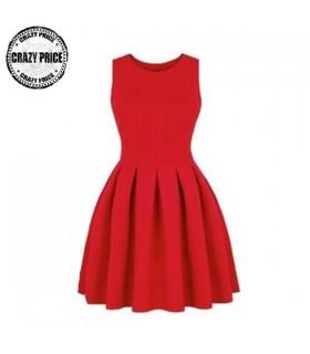 Pouf roten Kleid