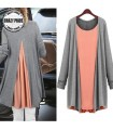 Loose long sleeves two pieces T-Shirt