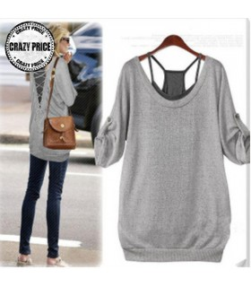 Casual loose twinset half sleeve t-shirt