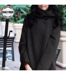 Casual black coat