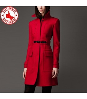 Cashmere red coat