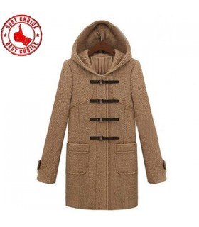 Manteau de café boucle