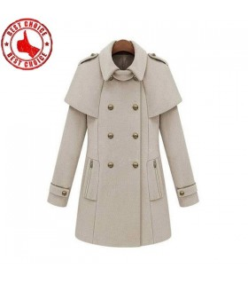 Cape style beige coat