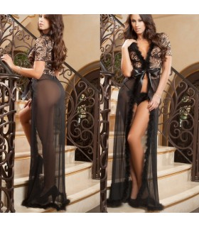 Sheer lungo sexy lingerie