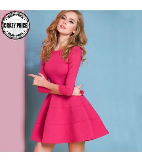 Pink panel dress