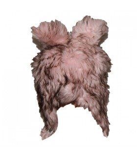 Pink artificial fur hat