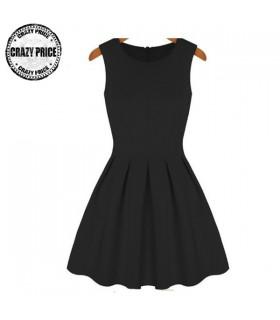Black panel dress