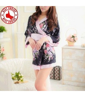 Floral pink robe