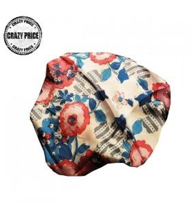 Satin flowers scarf