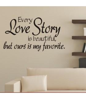 Decor citazione parete Love Story