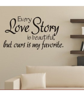 Decor  wall quote Love Story