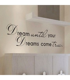 Motto wall sticker